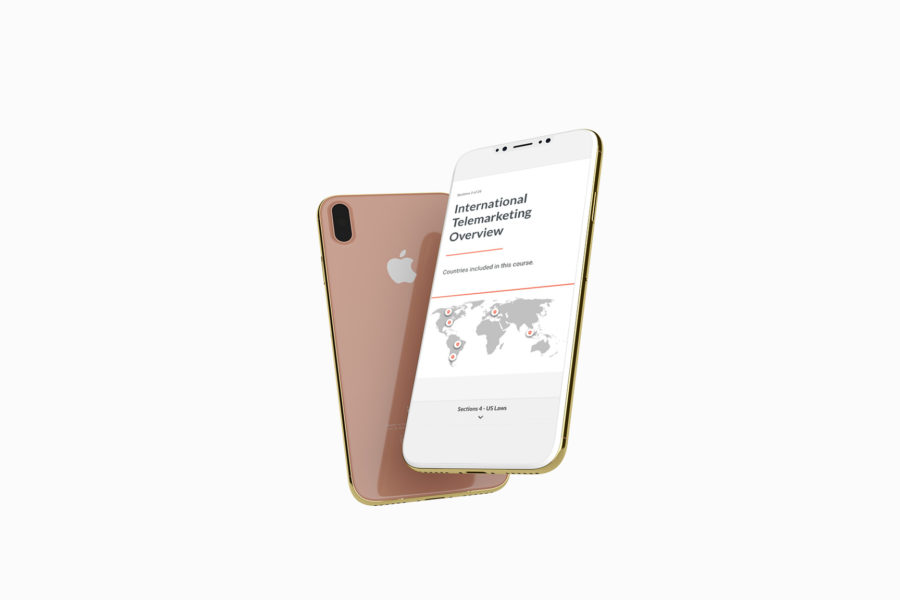 Floating iPhone featuring Consumer Protection Compliance Course